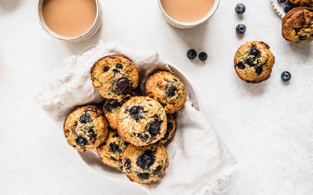 Blueberry + Date Bran Muffins
